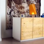 credenza in legno naturale design mobili moderni