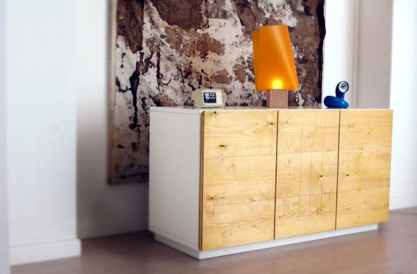 credenza in legno massiccio design | natural hardwood design ... - Mobili Moderni Legno