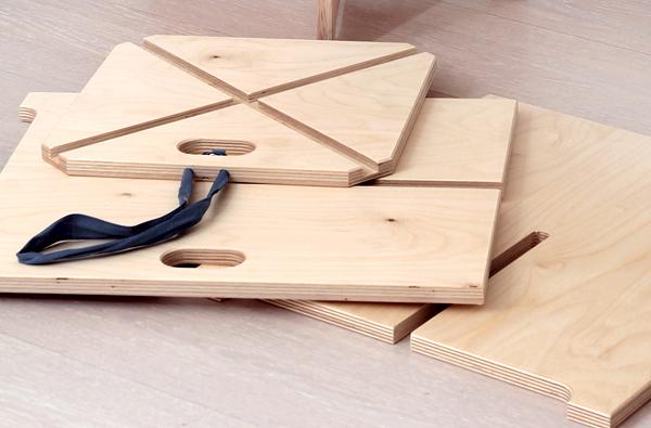 sgabello design legno smontabile trasportabile