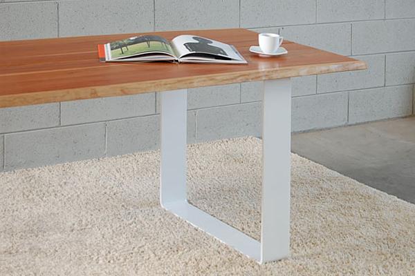 Tavolo design in legno naturale natural wood design - Gambe in ferro per tavoli ...