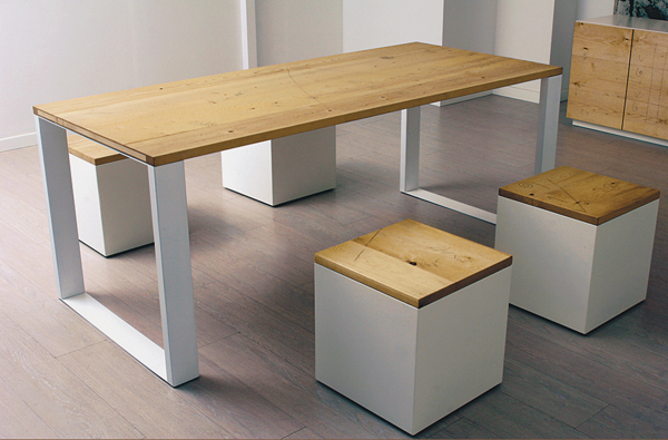 Tavolo di design in legno naturale design wood table for Tavolo legno design
