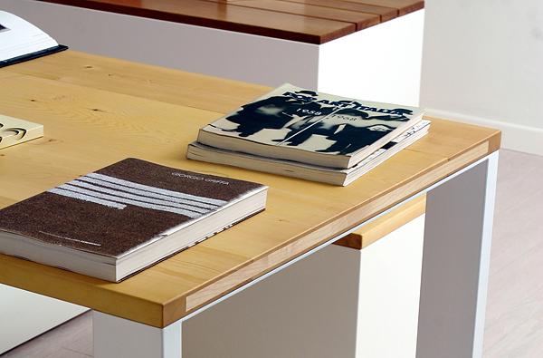 Tavolo di design in legno massiccio  wood design table  Umberto ...