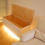 mobili design panca in legno naturale