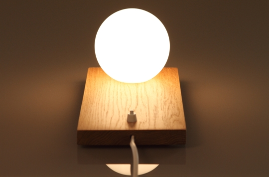 Lampada design legno vetro design glass wood lamp for Saldi lampade design
