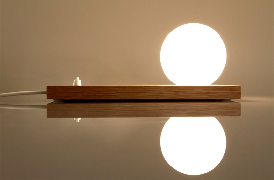 natural wood design lamp