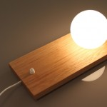 wood glass lamp